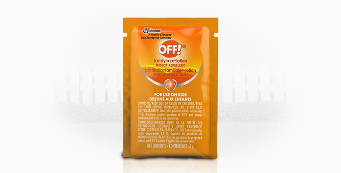 OFF!® FamilyCare Lotion Packs