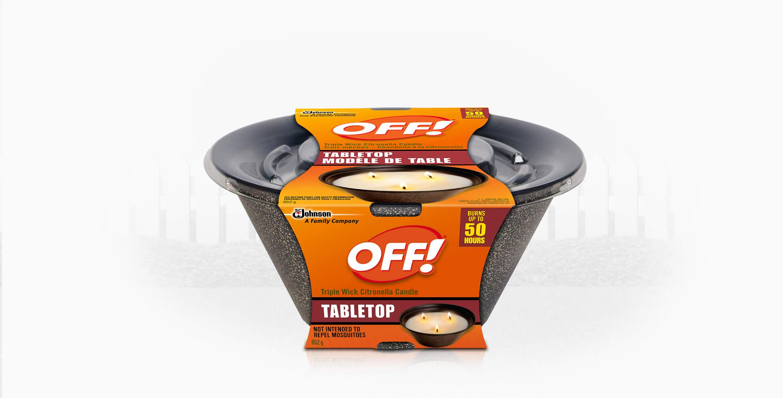 OFF!® Triple Wick Citronella Candle - Tabletop