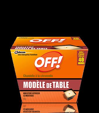 OFF!® Chandelle à la citronnelle Modèle de table