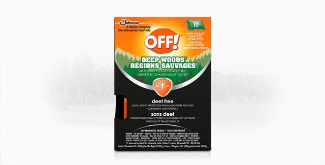 OFF!® Deep Woods® Wipes - Deet Free