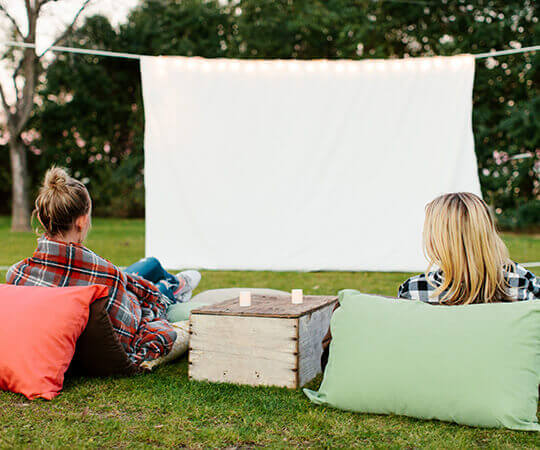 throw a backyard movie party