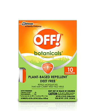 OFF! Botanicals® Insect Repellent Towelettes