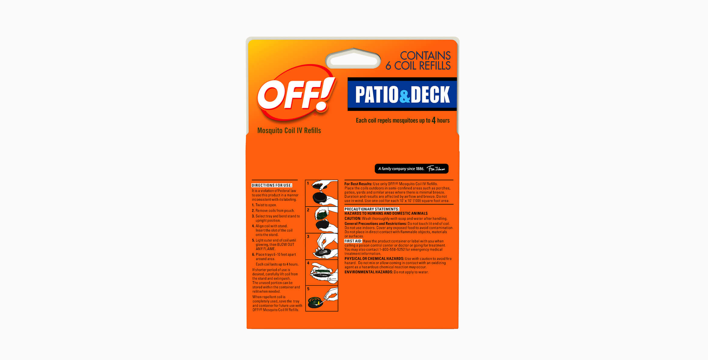 OFF!® MosquitoCoil IV Refills