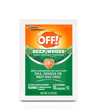 OFF!<sup>® </sup> Deep Woods® Insect Repellent Towelettes