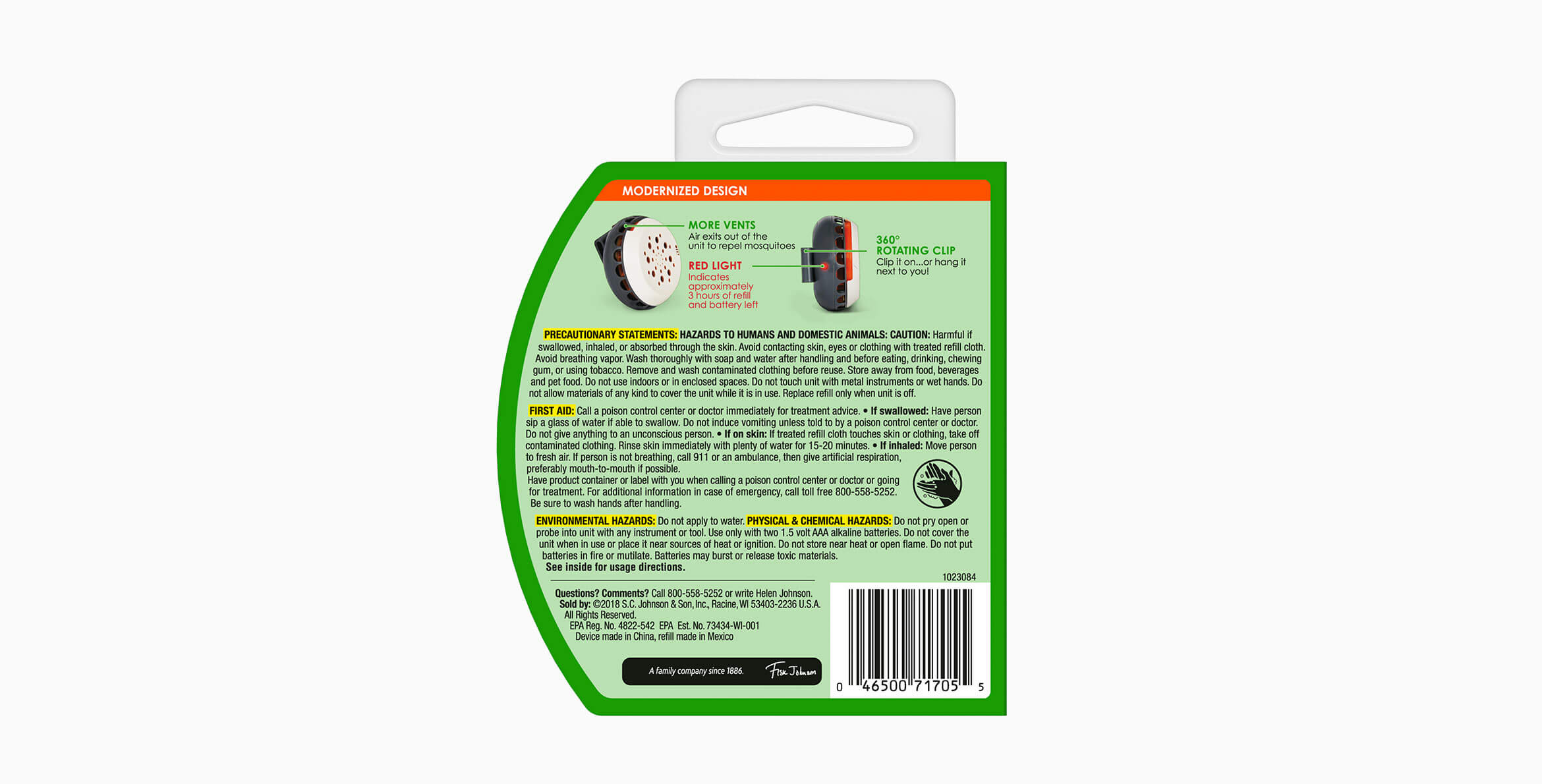 OFF!® Clip-On™ Mosquito Repellent