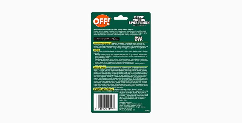 OFF! Deep Woods® Sportsmen Insect Repellent I