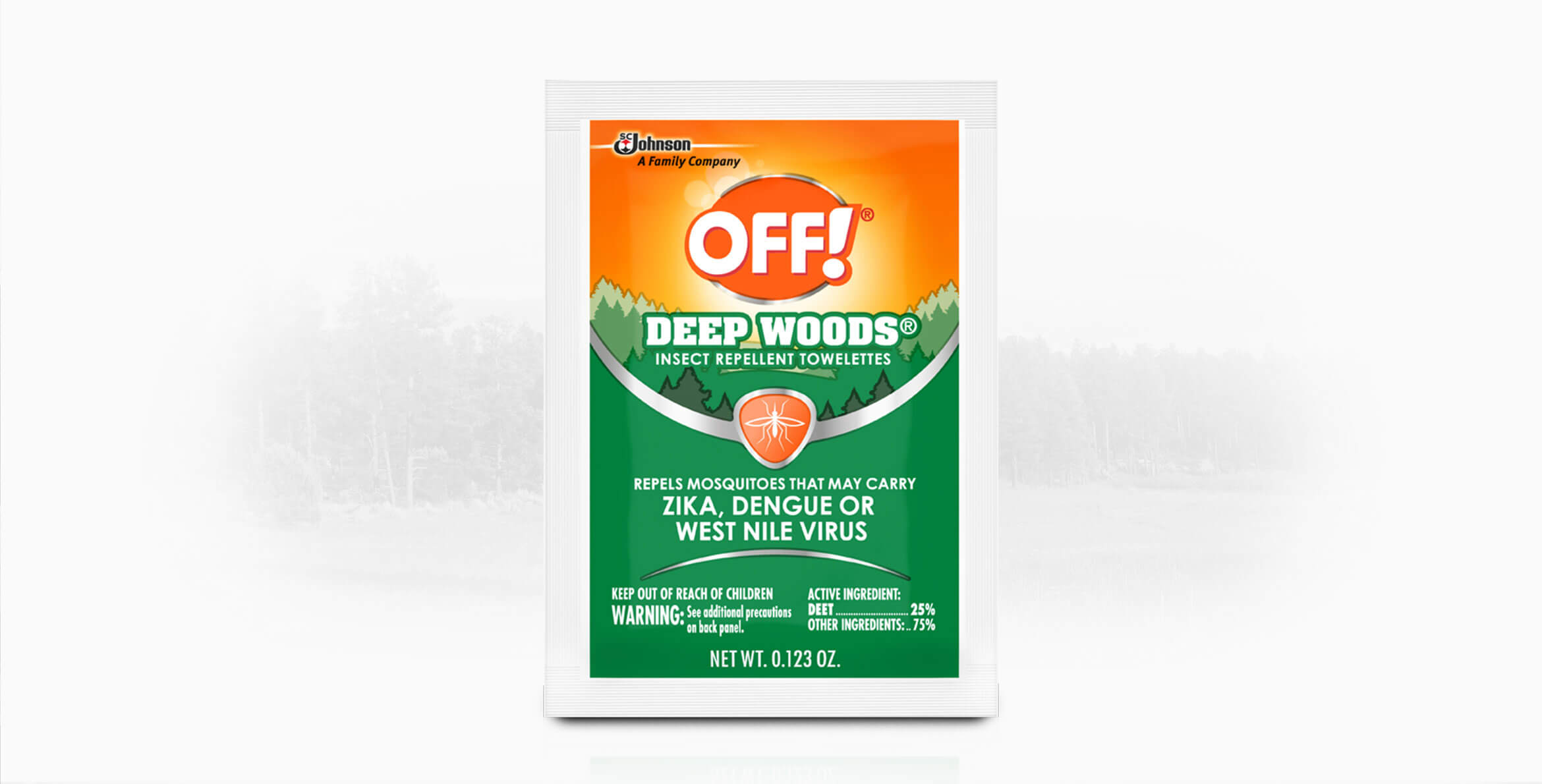 Off Deep Woods Insect Repellent Towelettes Off Repellent