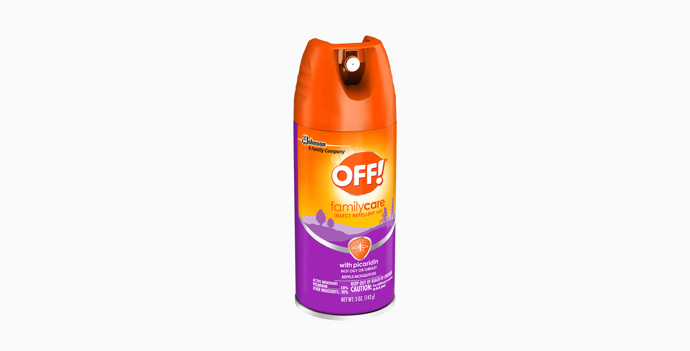 OFF!® Family Care Insect Repellent VIII with Picaridin Aerosol