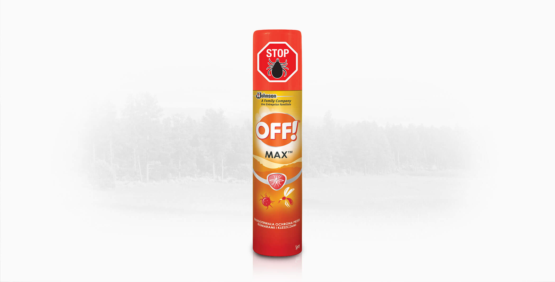OFF!&reg; Max<sup>&trade;</sup> w aerozolu - repelent przeciw komarom i kleszczom