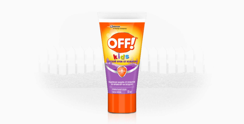 OFF!® Kids детский крем от комаров